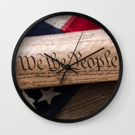 We the People Constitution Wall Clock