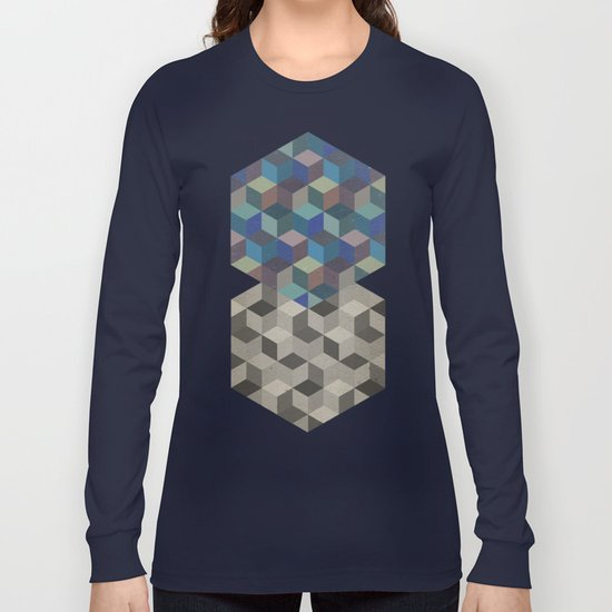 Dimension in blue Long Sleeve T-shirt
