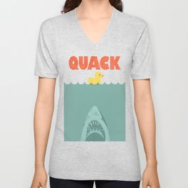 Jaws Rubber Duck Unisex V-Neck