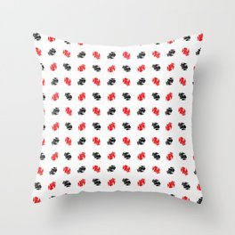 spot and blot 16 dark and red Throw Pillow