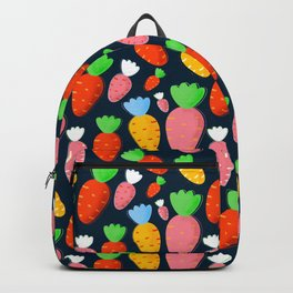 Carrots not only for bunnies - seamless pattern Backpack