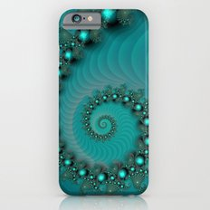 pattern turquoise spiral Slim Case iPhone 6s