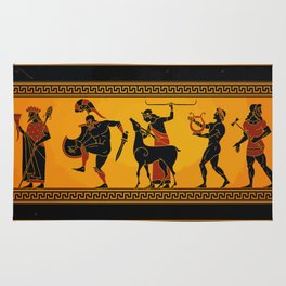 Ancient Greece Painting Rug