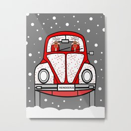 Sleigh Is In The Shop Metal Print