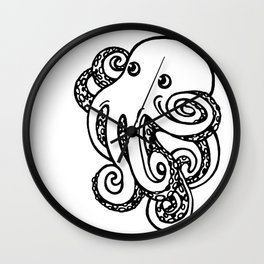 power pose octopus Wall Clock