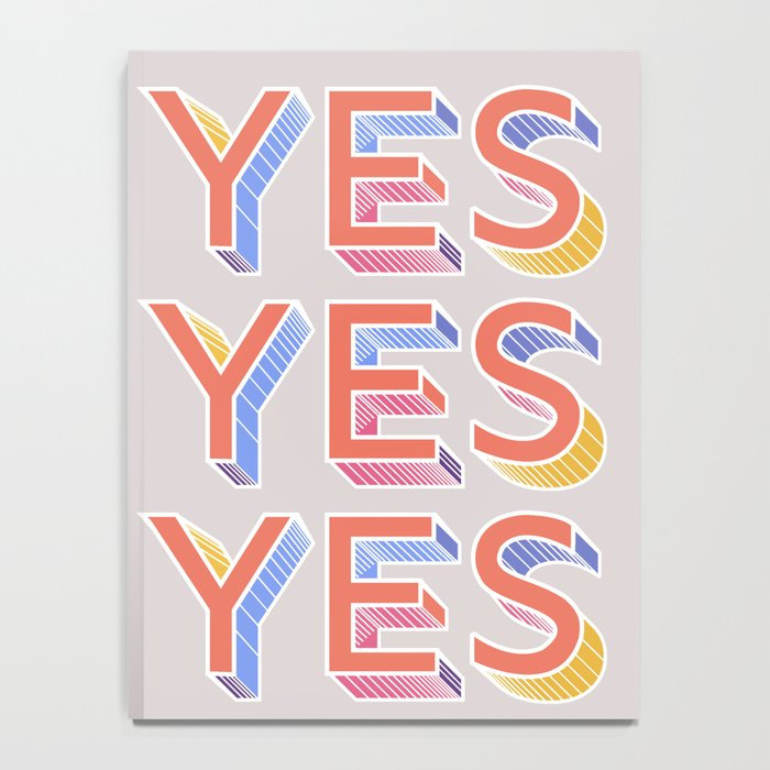 YES - typography Notebook