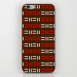 Pattern simple mazes iPhone Skin