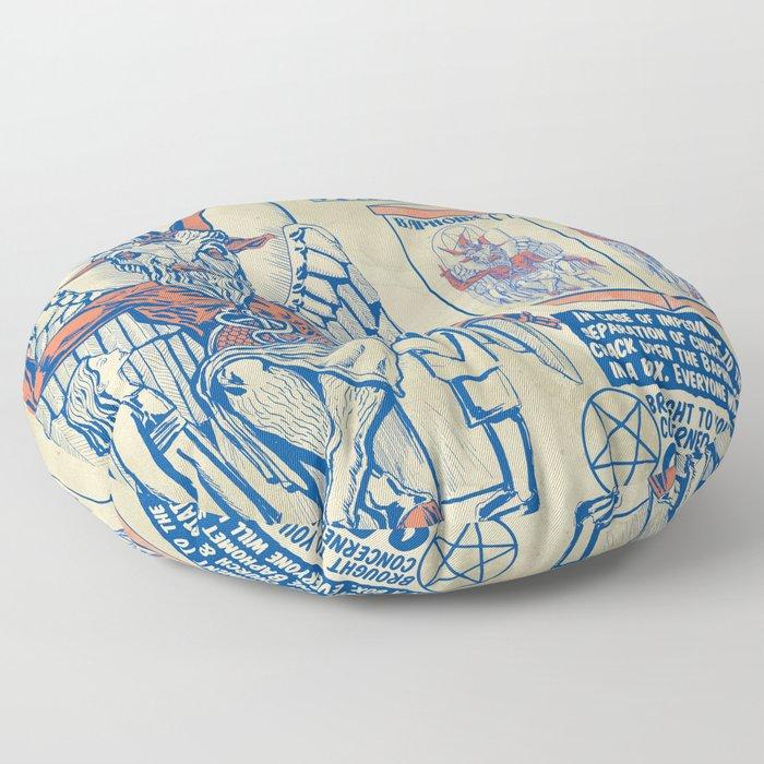 Baphomet Statue in a Box Floor Pillow