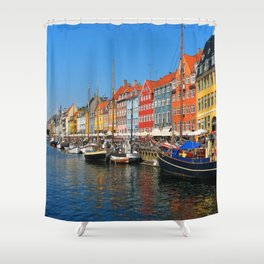 "New Port ""Copenhagen"" Shower Curtain"