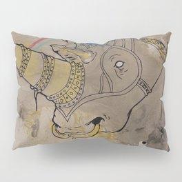 Embellished Rhino Pillow Sham
