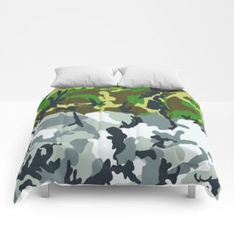 Urban Woodland Camo Comforters