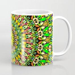 Floral Sun Garden Mandala Coffee Mug
