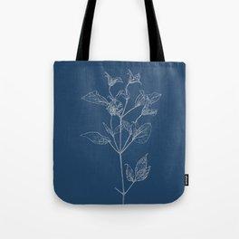 Clematis Blueprint Tote Bag