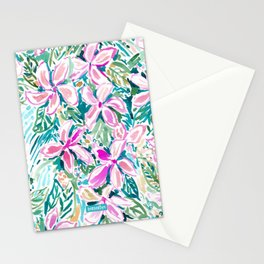 PLUMERIA PARADISE Tropical Floral Stationery Cards