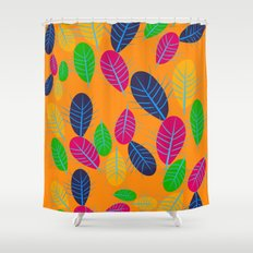 Fall Leaves Pop Pattern Design Shower Curtain