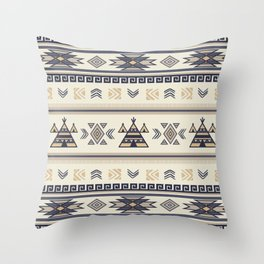 Ethnic patterns Throw Pillow