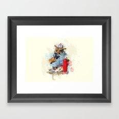FireOwl Framed Art Print