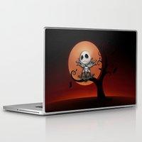 jack skellington Laptop & iPad Skins featuring Jack Skellington Nightmare by neutrone