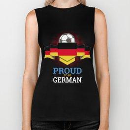 Football German Germany Soccer Team Sports Footballer Goalie Rugby Gift Biker Tank