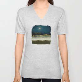 Midnight Moonlight Unisex V-Neck
