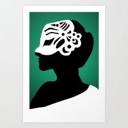 The Mask - green Art Print