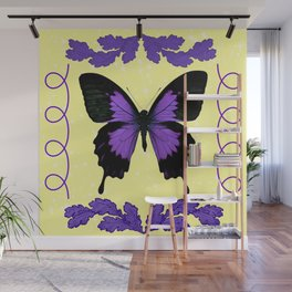 Purple Butterfly Wall Mural