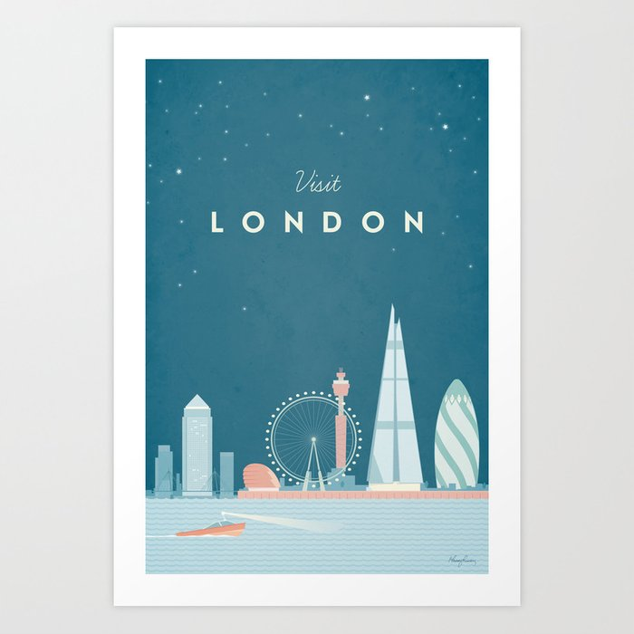 Vintage London Travel Poster Kunstdrucke