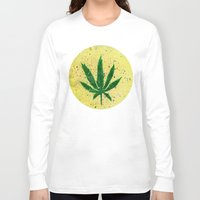 marijuana Long Sleeve T-shirts featuring MARIJUANA by Sha Abdullah