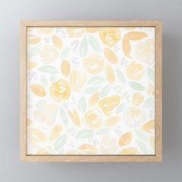 Floral Pattern #2 | Peach Mint Palette Framed Mini Art Print