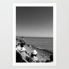 Hats on Parade, black&white Art Print
