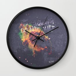 Space Inspirational Message for Practical Entrepreneurs Who Dream Big Wall Clock