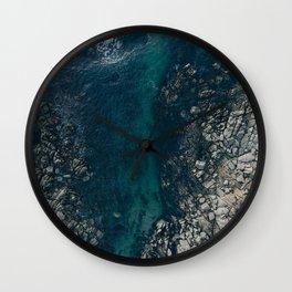 ocean blues II Wall Clock