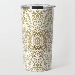 Crinkle Golden Mandala Travel Mug