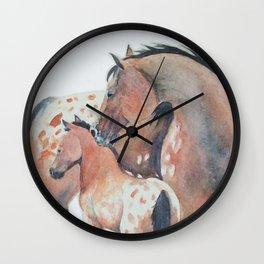 Mother's Love Appaloosa Horses Wall Clock