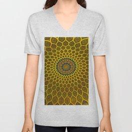 Yellow Arabic Mosaic Unisex V-Neck