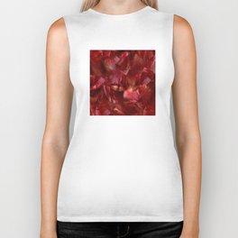Tulip Petals: Blood-Red Beauty Biker Tank