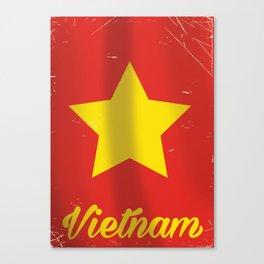 Vietnam vintage Travel poster Canvas Print