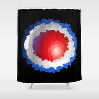 patriotic Shower Curtains featuring Patriotic  by C R Clifton Art