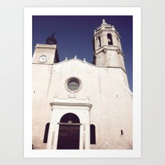Spanish church Art Print