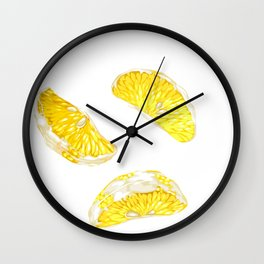 Lemon Slices Graphic Design Wall Clock