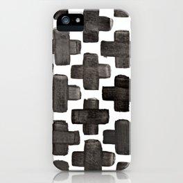 Black & White Crosses - Katrina Niswander iPhone Case