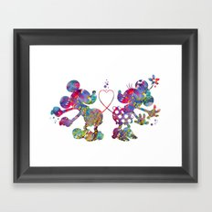 Mickey Loves Minnie Framed Art Print