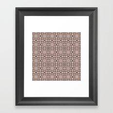 Pale Dogwood Geometric Framed Art Print
