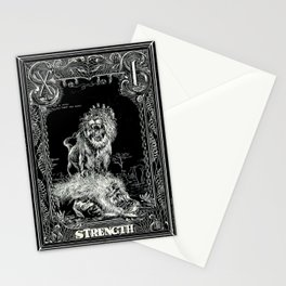 STRENGTH of Tarot Cat Stationery Cards
