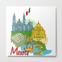 Mexico City Metal Print
