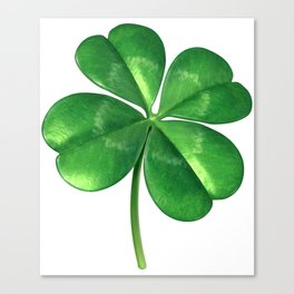 Lucky Four Leaf Clover Canvas Print
