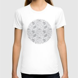 Japanese garden in grey T-shirt