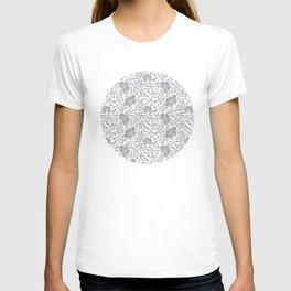 Japanese garden in grey T-shirt