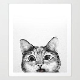 silly cat Art Print