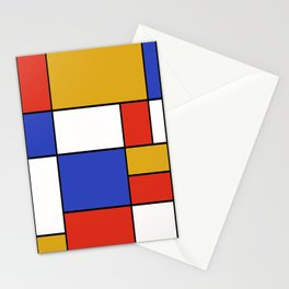 Abstract #401 Mondriaan #8 Stationery Cards
